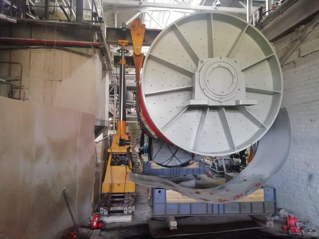 Такелаж мельницы SACMI MMC 120 в стесненных условиях