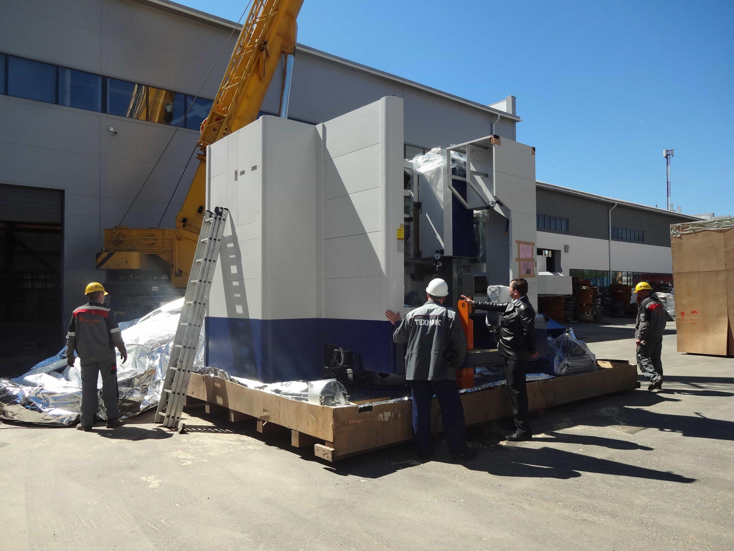 Удаление упаковки со станка VL-160CM