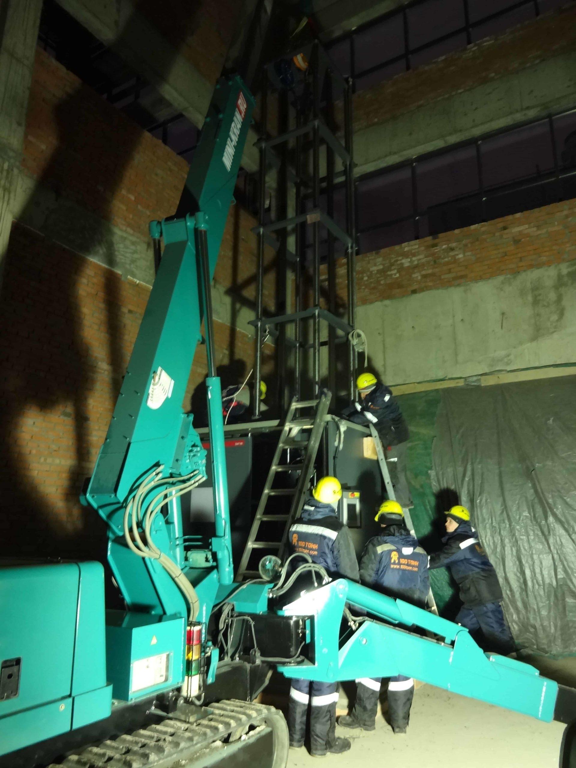 Установка башни испытательной машины DWT60