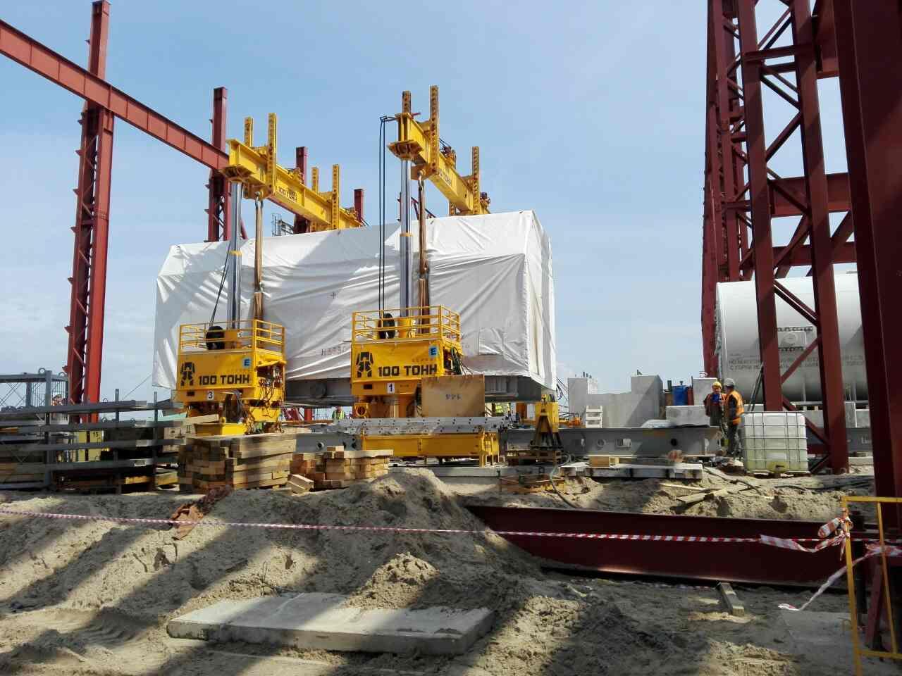 Установка турбины четвертой ГТУ