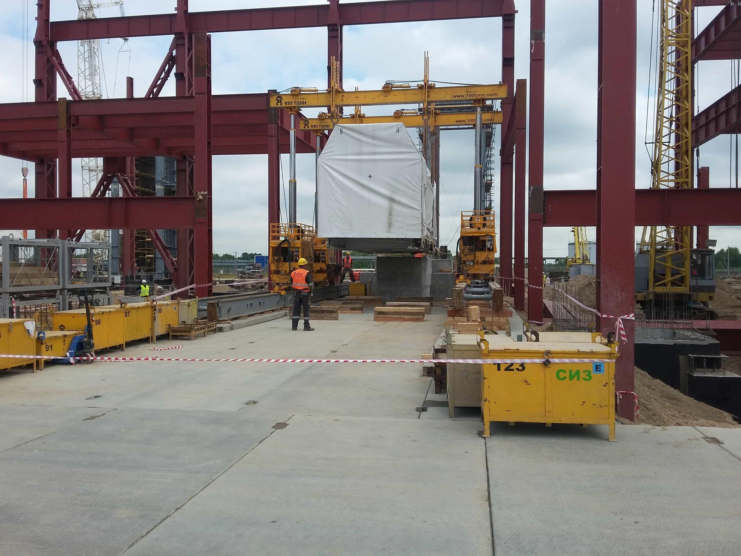 Процесс установки турбины первой ГТУ