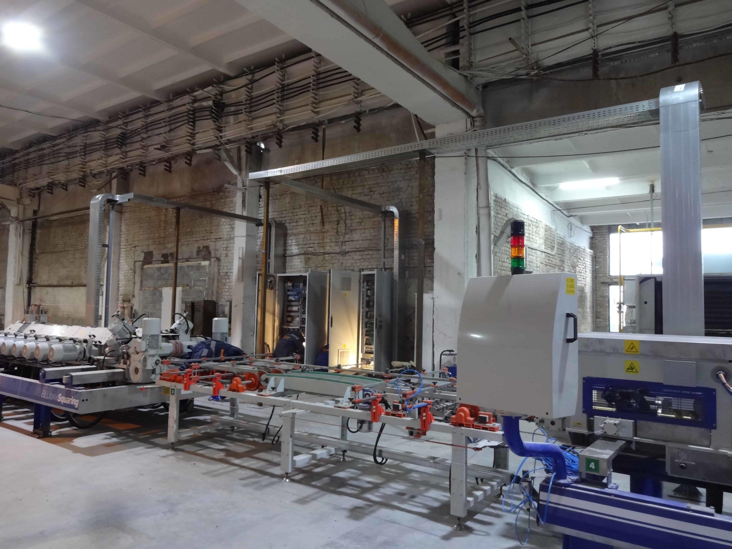Электромонтажные работы в рамках монтажа линии ректификации
