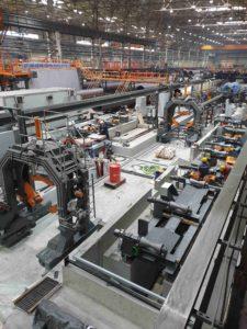 Монтаж оборудования для производства электросварных труб большого диаметра