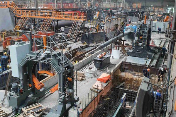 Монтаж оборудования на металлургическом заводе