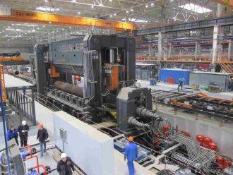 монтаж линии производства труб на Загорском трубном заводе в городе Пересвет Московской обл.