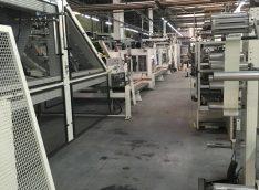 Монтаж линии по изготовлению бумажных пакетов длинной более 120 метров
